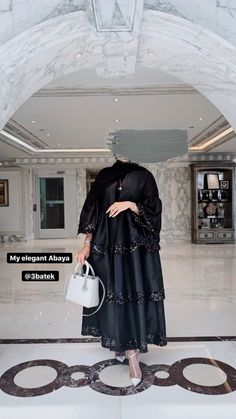 Street Hijab Fashion, Abaya Fashion, Muslim Fashion, Fashion Outfits, Hijab Dress Party, Hijab Style Dress, Beautiful Prom Dresses, Beautiful Hijab, Hijab Style Tutorial