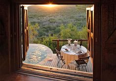 Room with a view at andBeyond Phinda Rock Lodge