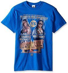 WWE Men's Shawn Michaels Vs Bret Hart T-Shirt