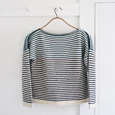 Tricot d'été : la marinière en coton de Purl Soho / Summer knitting projects : the cotton stripes pullover by Purl Soho - Marie Claire Idées