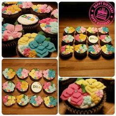 Muffins with flower