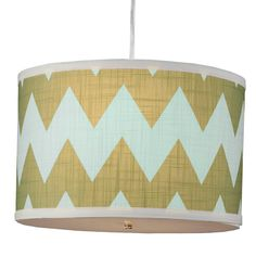 Chevron Drum Shade Pendant - 3 Colors! Great color combo