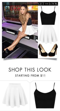 """""""Get The Look: Ariana Grande"""" by krisha1234 ❤ liked on Polyvore featuring moda, Topshop, Chinese Laundry e Getthelookwithkrisha"""