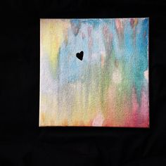 HOPE Abstract Watercolor & Acrylic Canvas Painting by WithLoveKNC