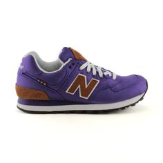 0bd0a19781a new balance 574 shoe in purple + brown New Balance 574