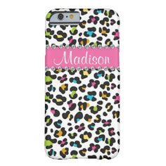 Rainbow Leopard Rhinestone Leopard BLING iPhone iPhone 6 Case