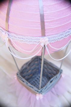 Central de aire caliente globo Baby Shower  tutu por CraftedByYudi
