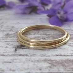 Hammered skinny bands in 9ct yellow gold #rings #ringspiration #simplicity #handmade #handmadejewelleryuk #slowmade #artisanmade #madeintheuk #nikkistarkjewellery