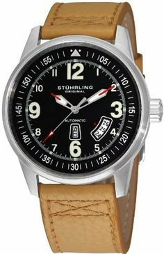 Men's Tuskegee Skymaster Automatic Stuhrling Original. $114.99. Day and date. Automatic. Beige Leather. Save 71% Off!