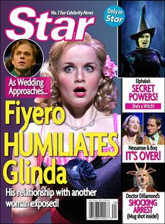 SPECIAL: What a Witch! 8 Magazines That Could Use Some Broadway Drama <-- the Wicked and Into the Woods ones are the best Broadway Theatre, Musical Theatre, Broadway Shows, Musicals Broadway, Broadway Playbill, Wicked Musical, Broadway Wicked, Defying Gravity, Show Must Go On
