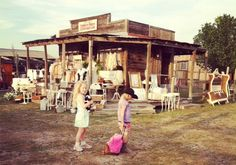 """Junk Salvation"" by Funky Junk Sisters Our Austin Texas Vintage Market at a ghost town!"