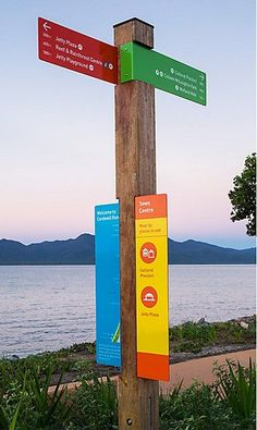 Love the color in this wayfinding signage for Cardwell