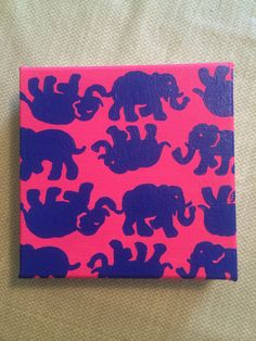 Hand paint Lilly Pulitzer inspired canvas Tusk by Kreations4UbyKT, $16.00