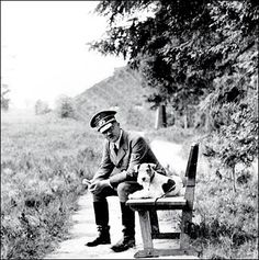 Adolf Hitler with a wire hair (oh so innocent little fox terrier!)