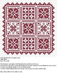 Another cross-stitch pattern that would be great for the dollhouse.