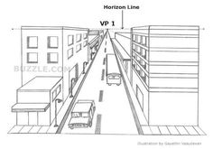 As the name suggests, a one-point perspective drawing has one vanishing point at the horizon line. Therefore, all the receding lines coming from the object . Types Of Perspective, Perspective Room, 3 Point Perspective, Perspective Images, Perspective Drawing Lessons, Perspective Sketch, Van Gogh, Tag Street Art, Negative Space Art