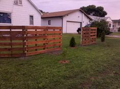 We took pallets I got from work and stained them with wood protective stain and spaced them in our yard between the new trees and shrubs we planted. Idea sent by Brenda Brumfield !