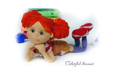 Вязаная крючком очаровательная куколка Тоня. Схема-описание