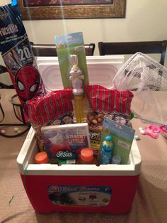 An enchanted imagination kids fishing gift basket my crafts easter basket for boys theme fishing negle Images