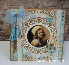 CreAnita: Vintage verjaardagkaart