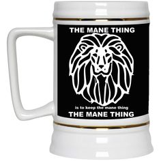 Oh! Oh! Oh! Love this new The Mane Thing Be... Check it out! http://catrescue.myshopify.com/products/the-mane-thing-beer-stein-22-oz?utm_campaign=social_autopilot&utm_source=pin&utm_medium=pin
