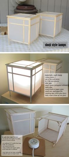 Japanese Lamp From Recycled Materials - shoji style lamp - . - Japanese Lamp From Recycled Materials – shoji style lamp – -