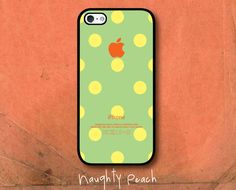 iPhone 5 Case - Green apple Lady Bug / Available for iPhone 4, 4S. $19.99, via Etsy.