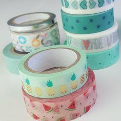 Die neuen Ananas und Melonen Washis sind da :) Viele Ideen mit Washi Tape findet ihr in meinem Blog!