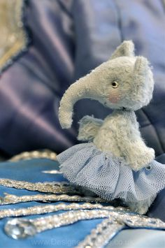 Little Beings Designed by Alice - blue ballerina elephant