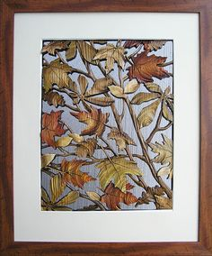Autumn Leaves. Decorative wood art by Anatoly Obelets