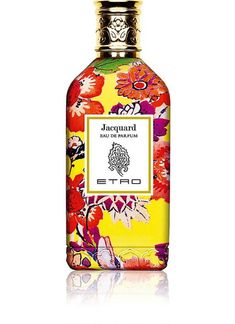 Etro Jacquard is a peppery, dry iris perfume in a gorgeous yellow floral bottle.