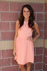 Notch neck fit and flare dress