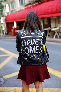 Custom Rebels leather jacket