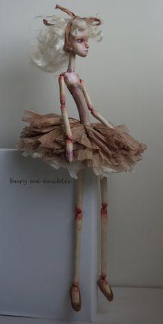 Redwood Ballerina...OOAK Art Doll by burymebaubles on Etsy, $250.00