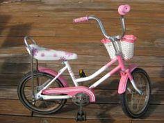 Pink Banana Seat bike.  I had one as my first big girl bike and I loved it.