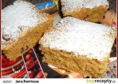 Zdravá špaldová buchta recept - TopRecepty.cz Baby Food Recipes, Sweet Recipes, Cake Recipes, Dessert Recipes, Cooking Recipes, Desserts, Healthy Recipes, Carrot Cake, Vanilla Cake