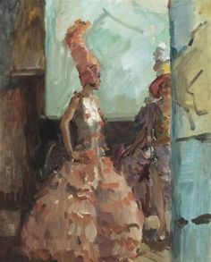 Revue Girls in the Scale Theater, The Hague, circa 1927 - 1934 by Isaac Israëls (Dutch 1865 – . Dutch painter associated with the Amsterdam Impressionism movement Harlem Renaissance, Renoir, Vincent Van Gogh, Monet, Canvas Art Prints, Oil On Canvas, La Haye, Van Gogh Sunflowers, Art Deco
