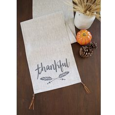 Thankful Thanksgiving Modern Table runner   Mixed by celineandkate