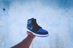 Nike Air Force 1 Black Varsity Royal (Size 9) DS — Roots