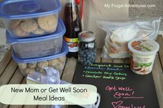 Meal Ideas to bring over for new moms or people recovering from surgery