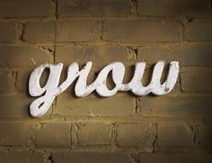 "Nursery or garden ""grow"" wood sign made from recycled wood - Svpply"