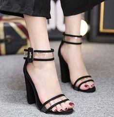 c6ee33d4b Ankle Strap Block Heel Transparent Plastic Sandals  AnklestrapsHeels