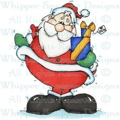03f254b64c395 Gift From Santa - Christmas Images - Christmas - Rubber Stamps