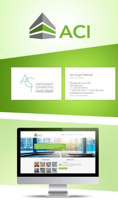 ACI Entreprises - Création logo, carte de visite et site internet Construction, Site Internet, Desktop Screenshot, Logo Creation, Carte De Visite, Business, Real Estate, Projects, Building