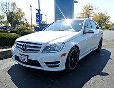 Gorgeous Pre Owned 2012 Mercedes Benz C Class C300 SPORT In Arctic White With Beige Almond Interior 12990 Miles 29991