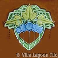 Art Deco ceramic accent tile from Villa Lagoon Tile Art Nouveau Tiles, Art Nouveau Design, Artistic Tile, Art Tiles, Glasgow School, La Art, Vintage Tile, Style Tile, Decorative Tile