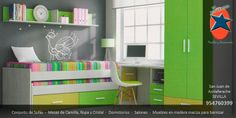 #Dormitorio #Juvenil en #Sevilla. #Muebles y #Decoración La Ponderosa en San Juan de Aznalfarache, #Andalucía