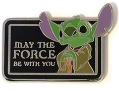 DISNEY PINS STAR WARS MYSTERY COLLECTION CHARACTER QUOTES - STITCH AS YODA ONLY