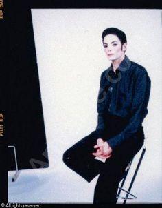 Arno Bani, Michael Jackson in Studio No 3, photoshoot 1999