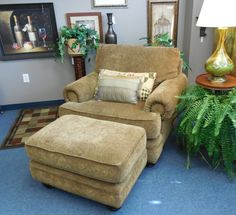 Chair and Ottoman $349.00. - Consign It! Consignment Furniture